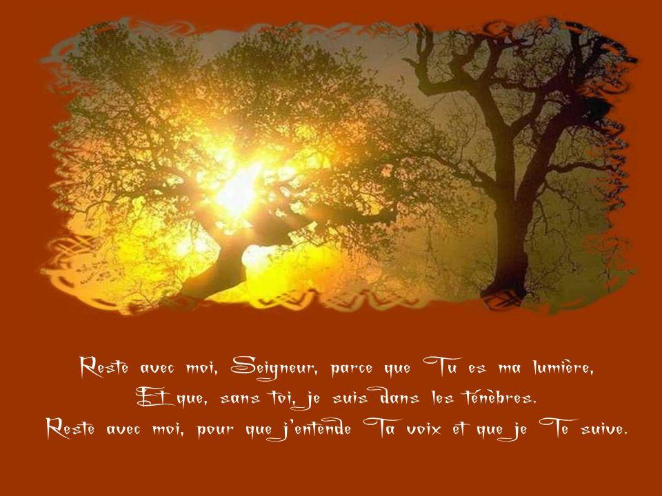 Reste avec moi, Seigneur, parce que Tu es ma lumière,