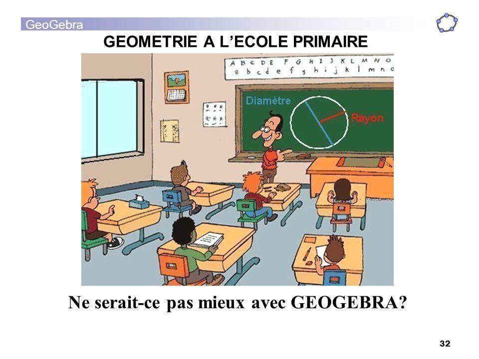GEOMETRIE A L'ECOLE PRIMAIRE