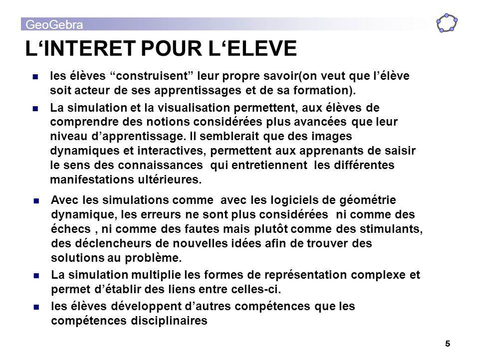 L'INTERET POUR L'ELEVE