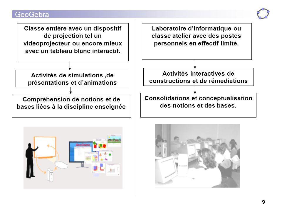 Activités interactives de constructions et de rémediations