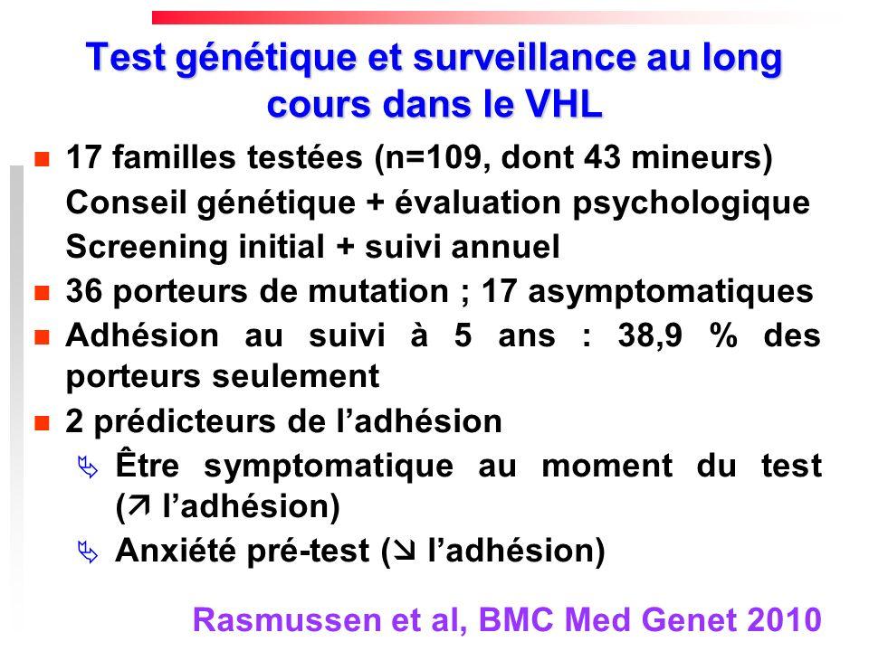 Test génétique et surveillance au long cours dans le VHL