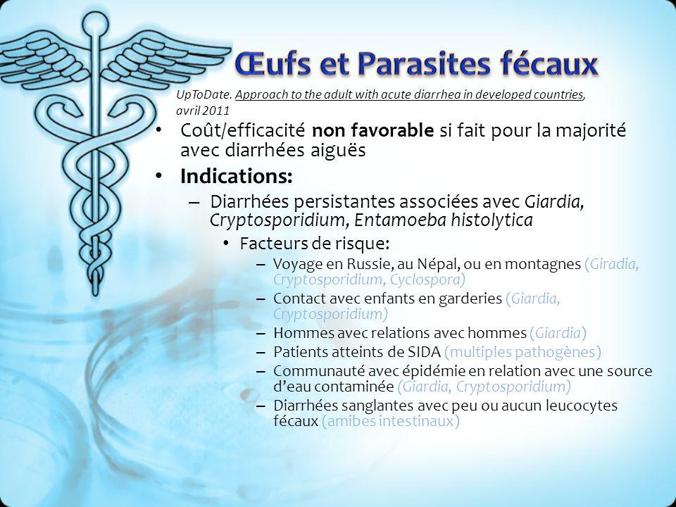 Œufs et Parasites fécaux