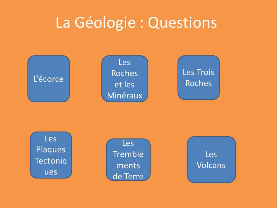 La Géologie : Questions