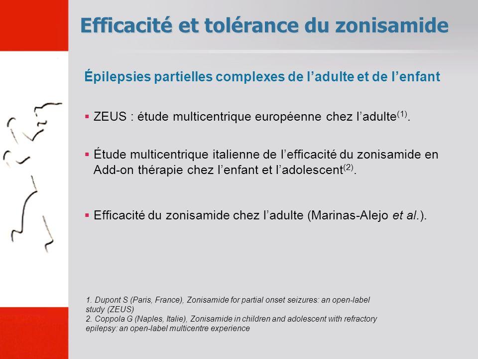 Efficacité et tolérance du zonisamide