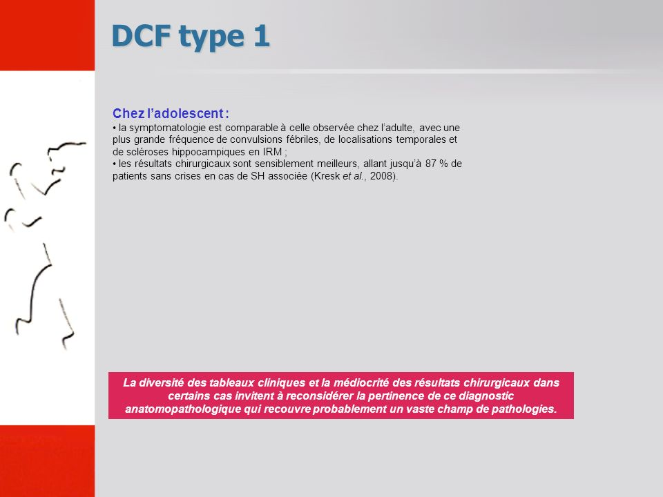 DCF type 1 Chez l'adolescent :