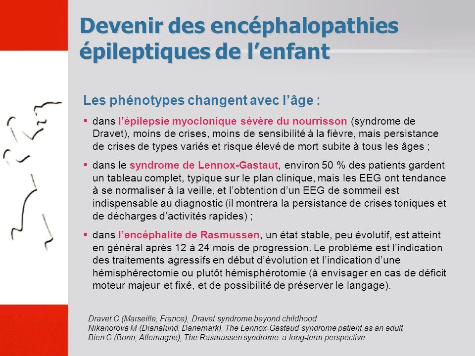 Devenir des encéphalopathies épileptiques de l'enfant