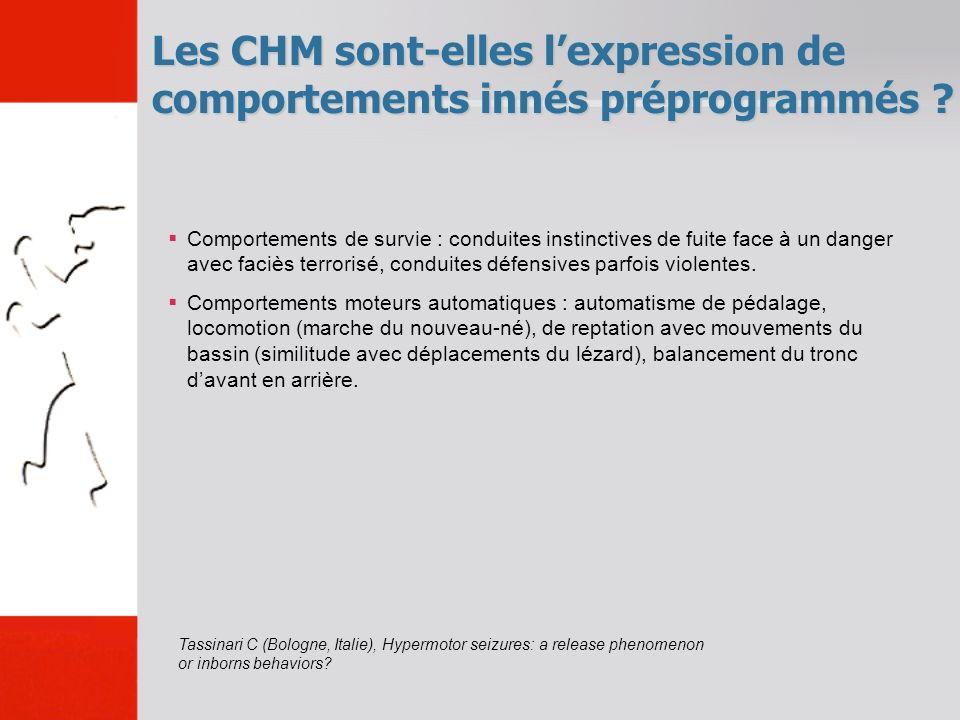 Les CHM sont-elles l'expression de comportements innés préprogrammés