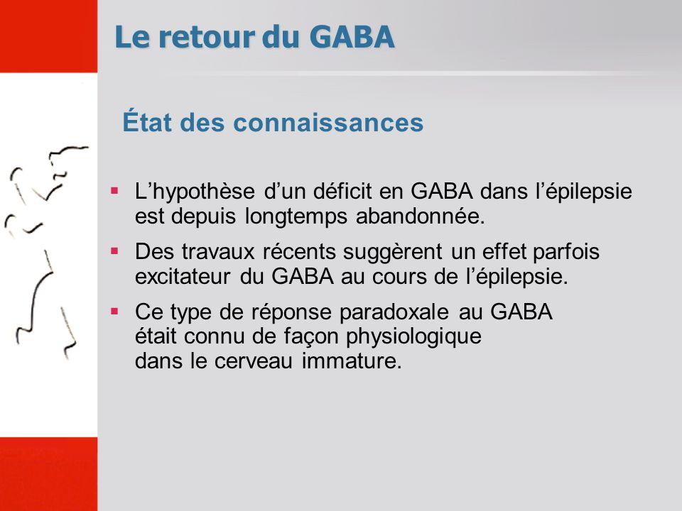 Le retour du GABA État des connaissances