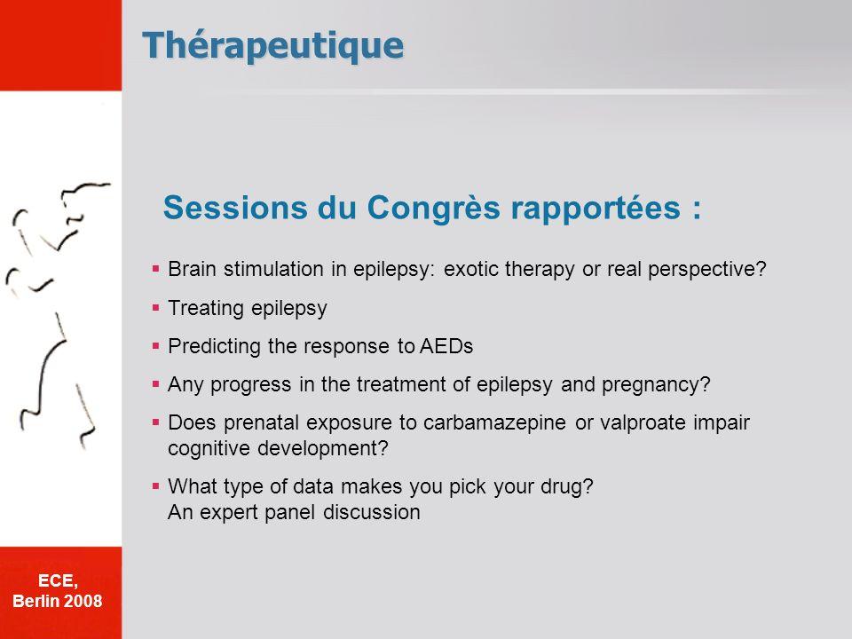 Thérapeutique Sessions du Congrès rapportées :