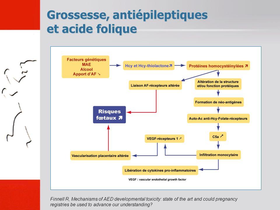Grossesse, antiépileptiques et acide folique