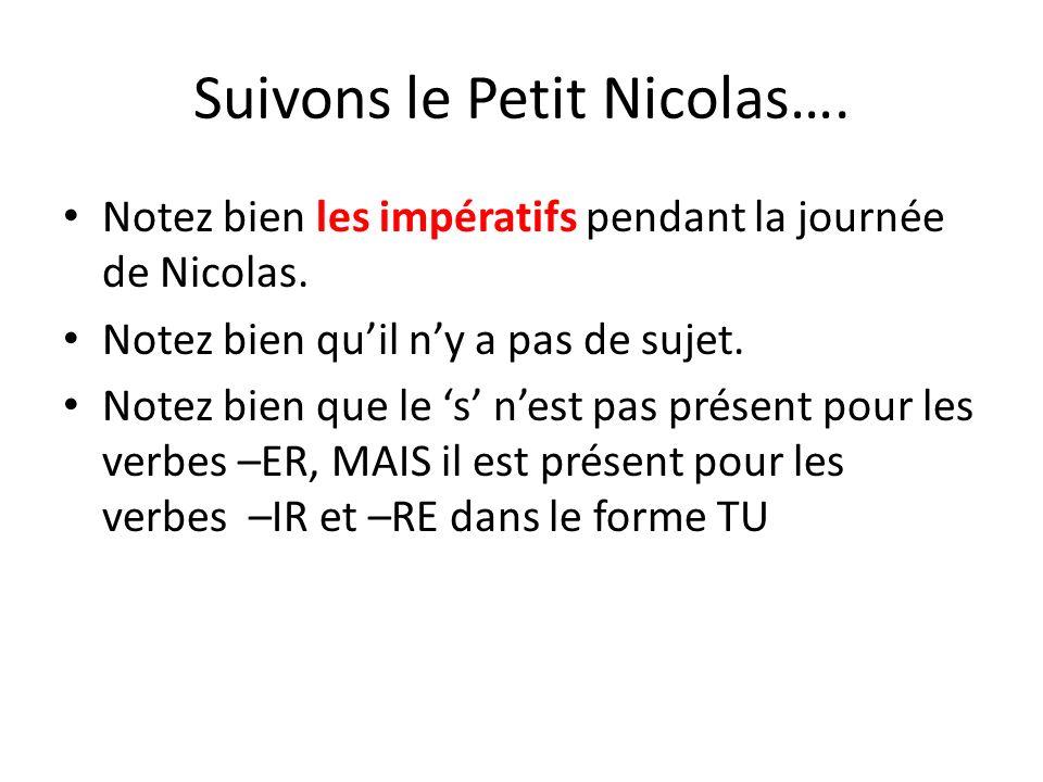 Suivons le Petit Nicolas….