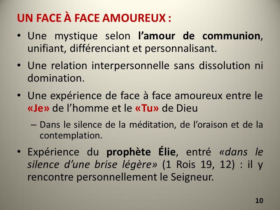 Un face à face amoureux :