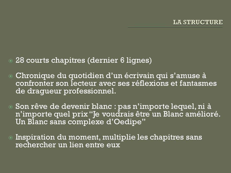 28 courts chapitres (dernier 6 lignes)
