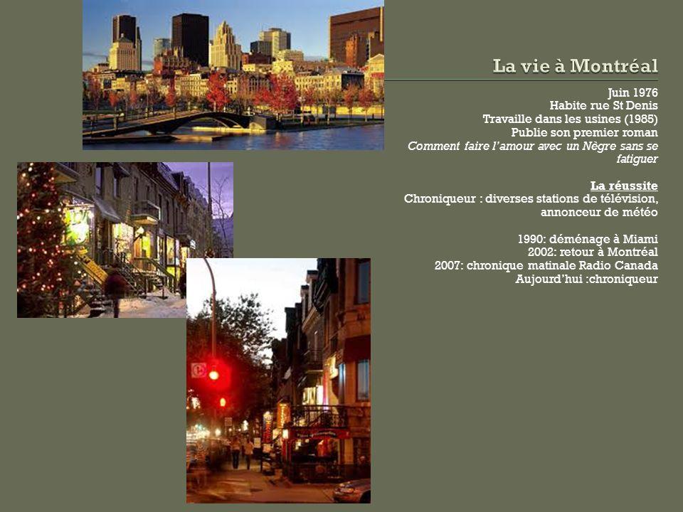 La vie à Montréal Juin 1976 Habite rue St Denis