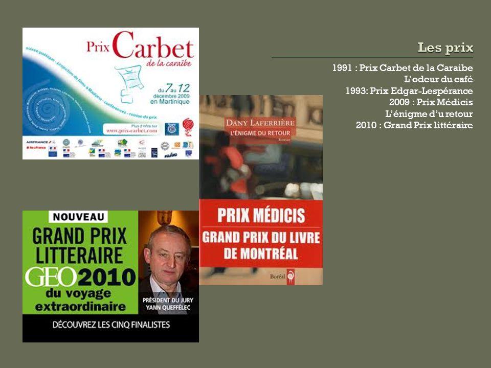Les prix 1991 : Prix Carbet de la Caraibe L'odeur du café