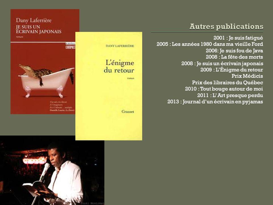 Autres publications 2001 : Je suis fatigué