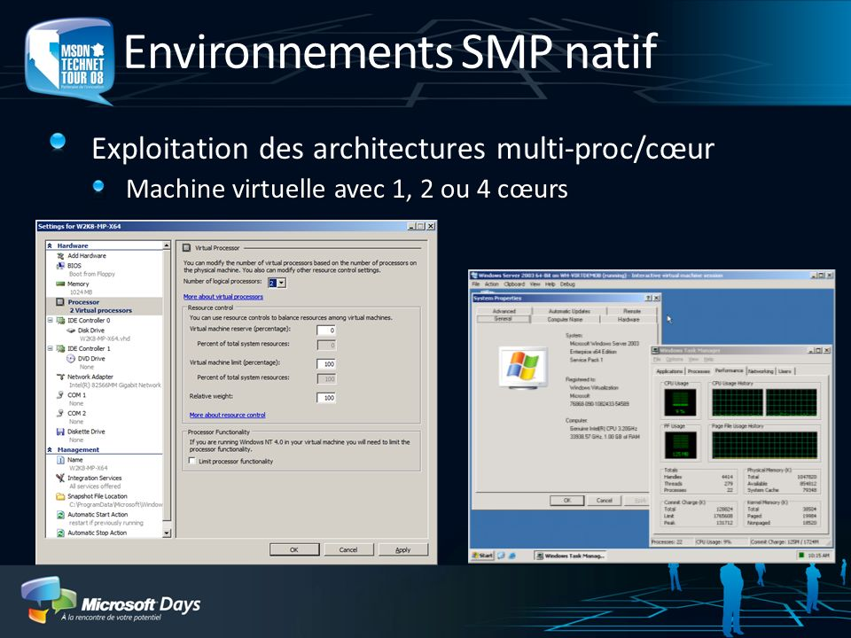 Environnements SMP natif
