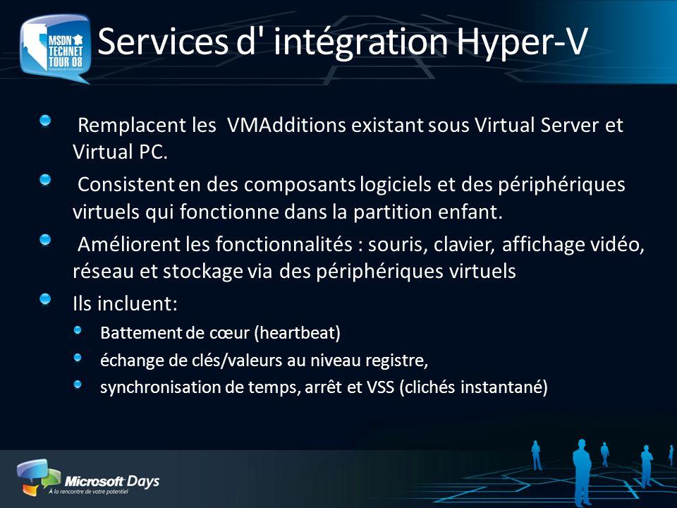 Services d intégration Hyper-V