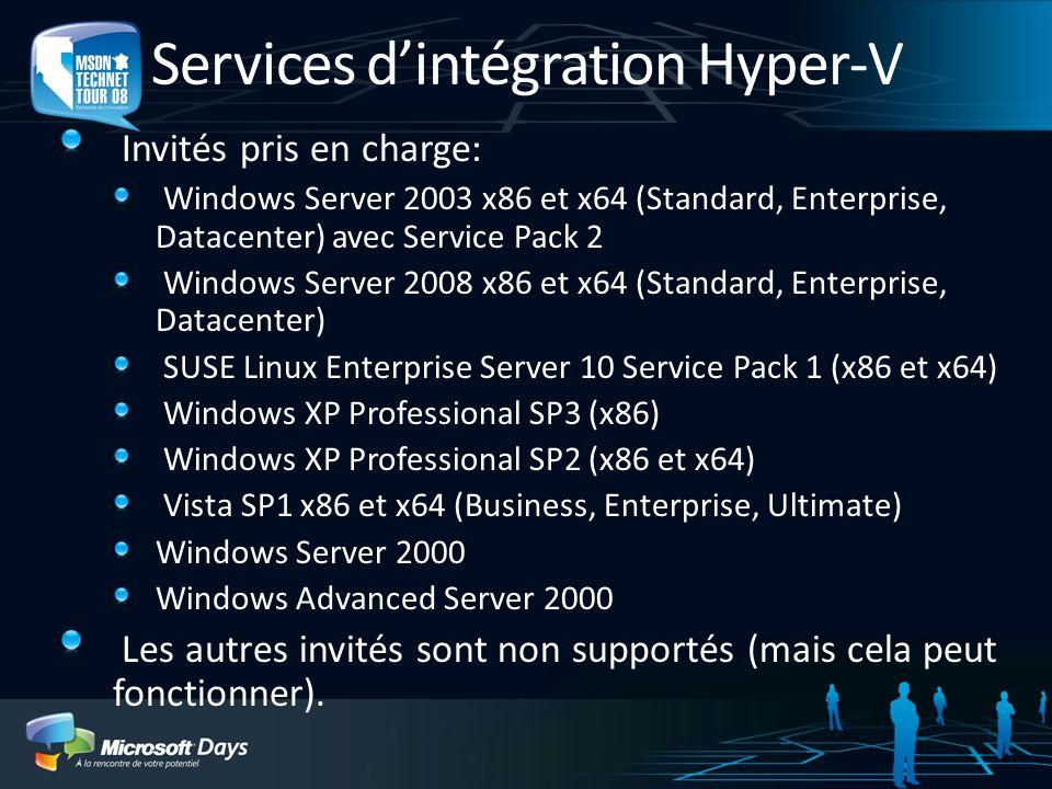 Services d'intégration Hyper-V