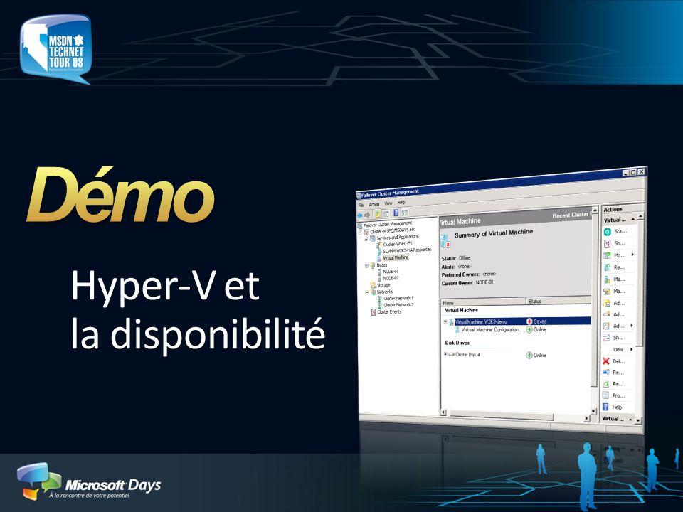 Hyper-V et la disponibilité