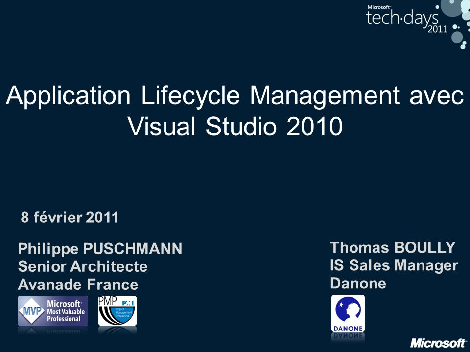 Application Lifecycle Management avec Visual Studio 2010