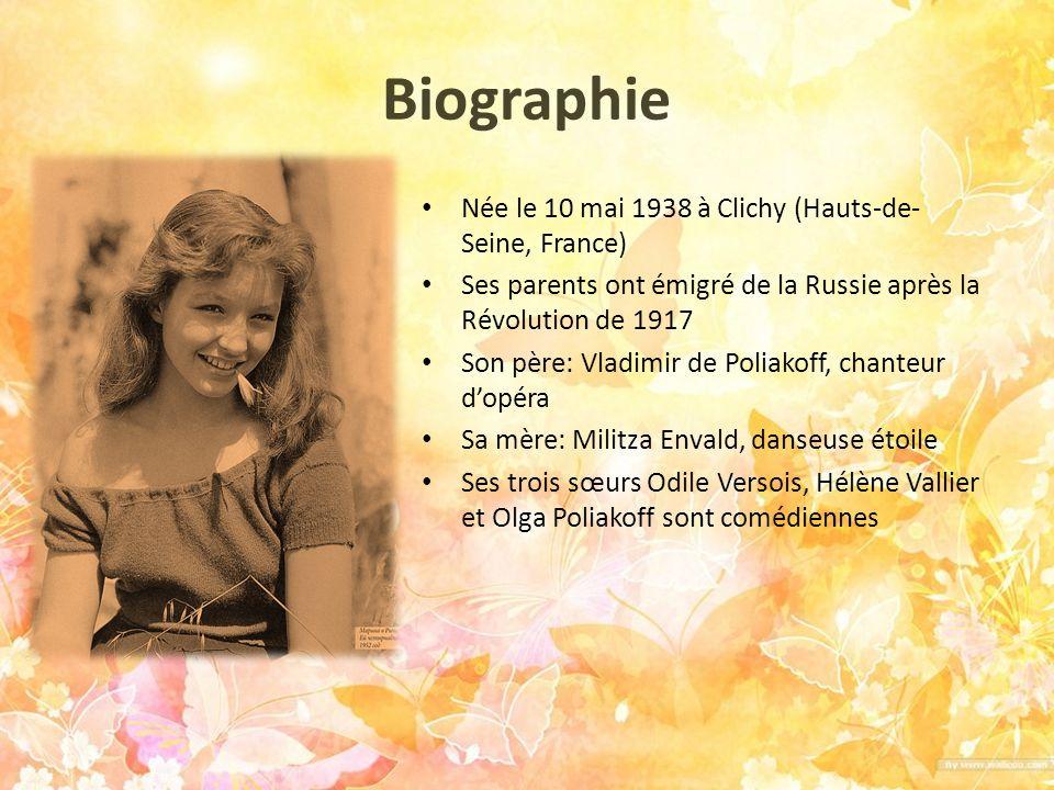 Biographie Née le 10 mai 1938 à Clichy (Hauts-de-Seine, France)