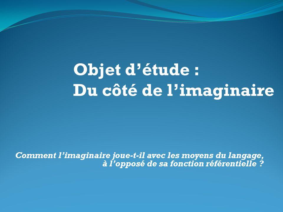 Objet d'étude : Du côté de l'imaginaire