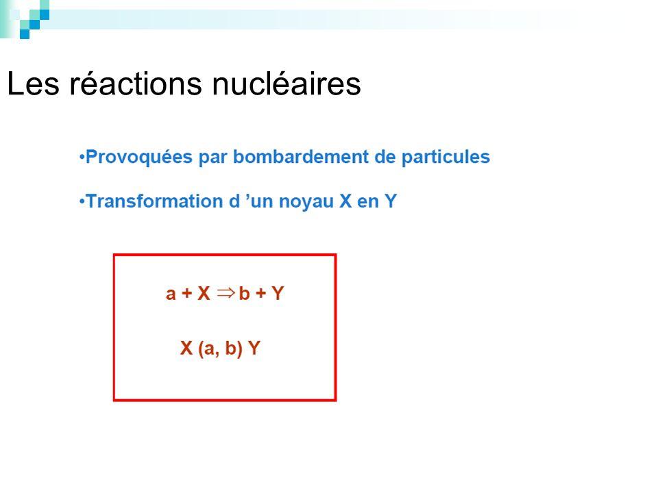 Les réactions nucléaires
