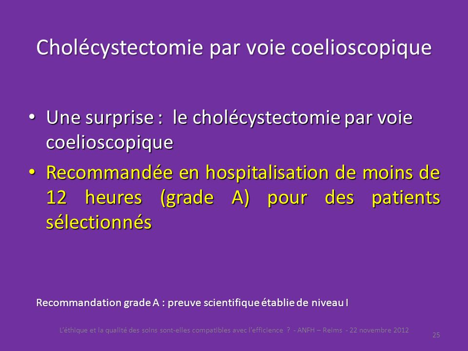Cholécystectomie par voie coelioscopique
