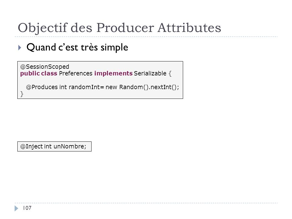 Objectif des Producer Attributes