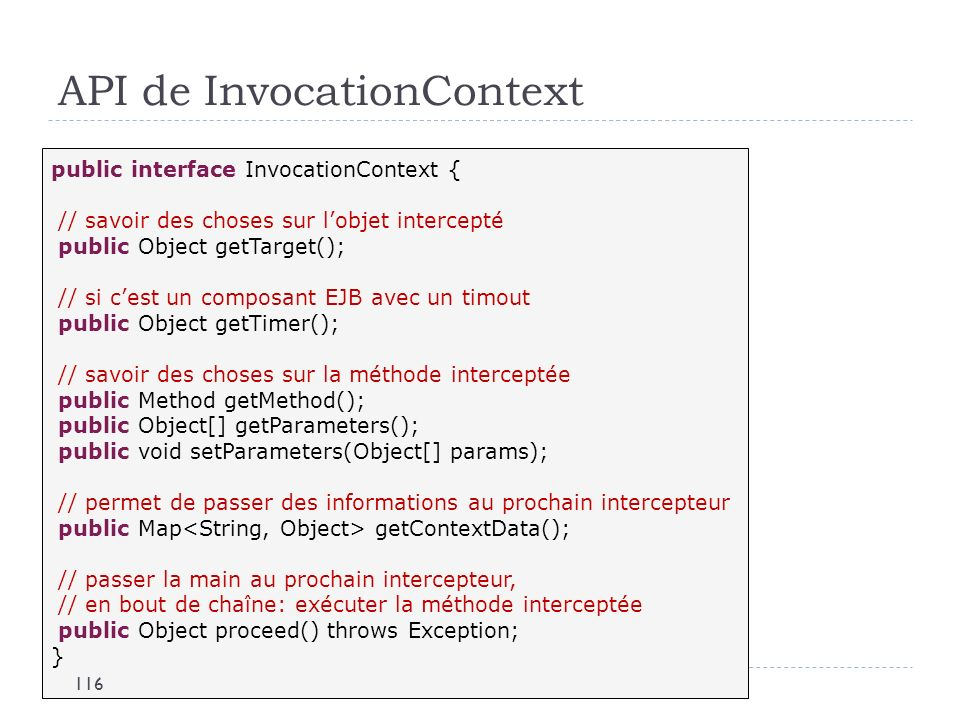 API de InvocationContext