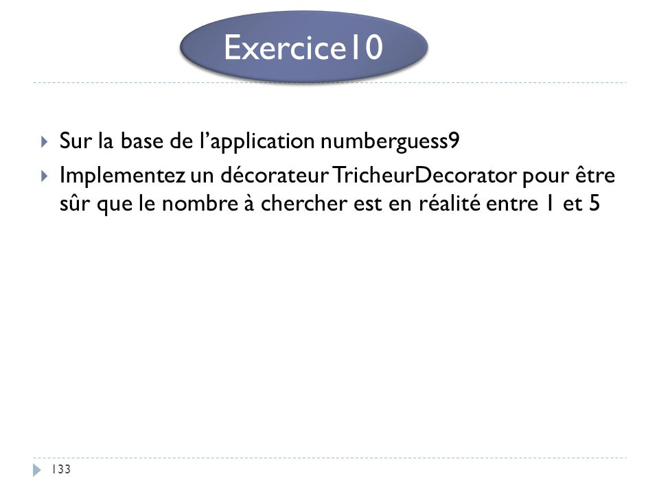Exercice10 Sur la base de l'application numberguess9