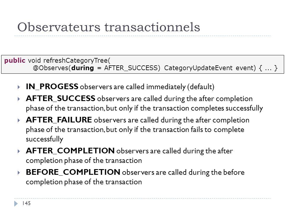 Observateurs transactionnels