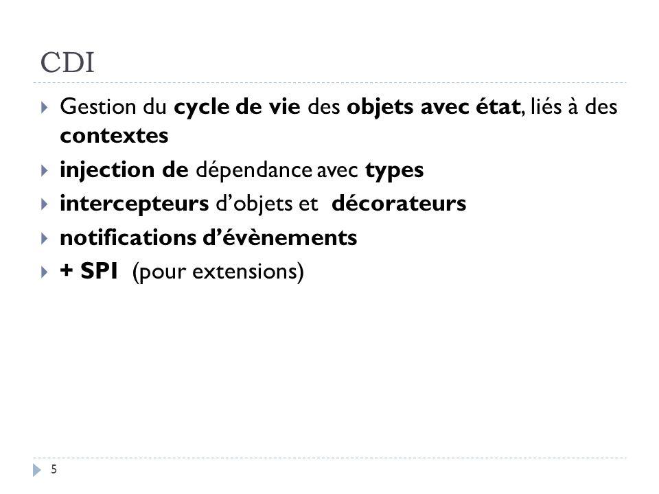 CDI Gestion du cycle de vie des objets avec état, liés à des contextes