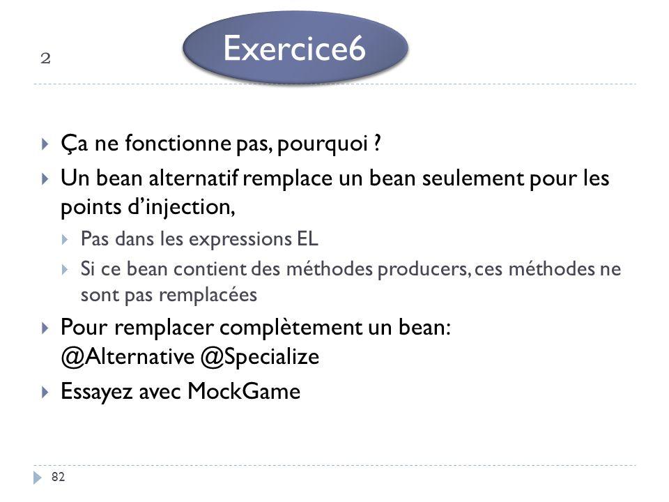 Exercice6 ² Ça ne fonctionne pas, pourquoi