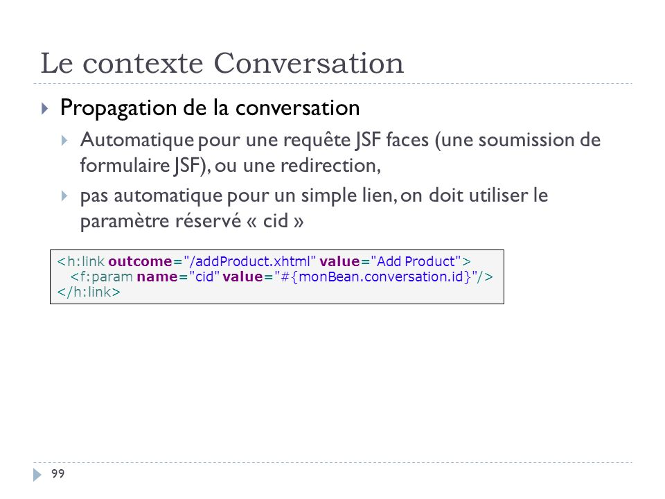 Le contexte Conversation