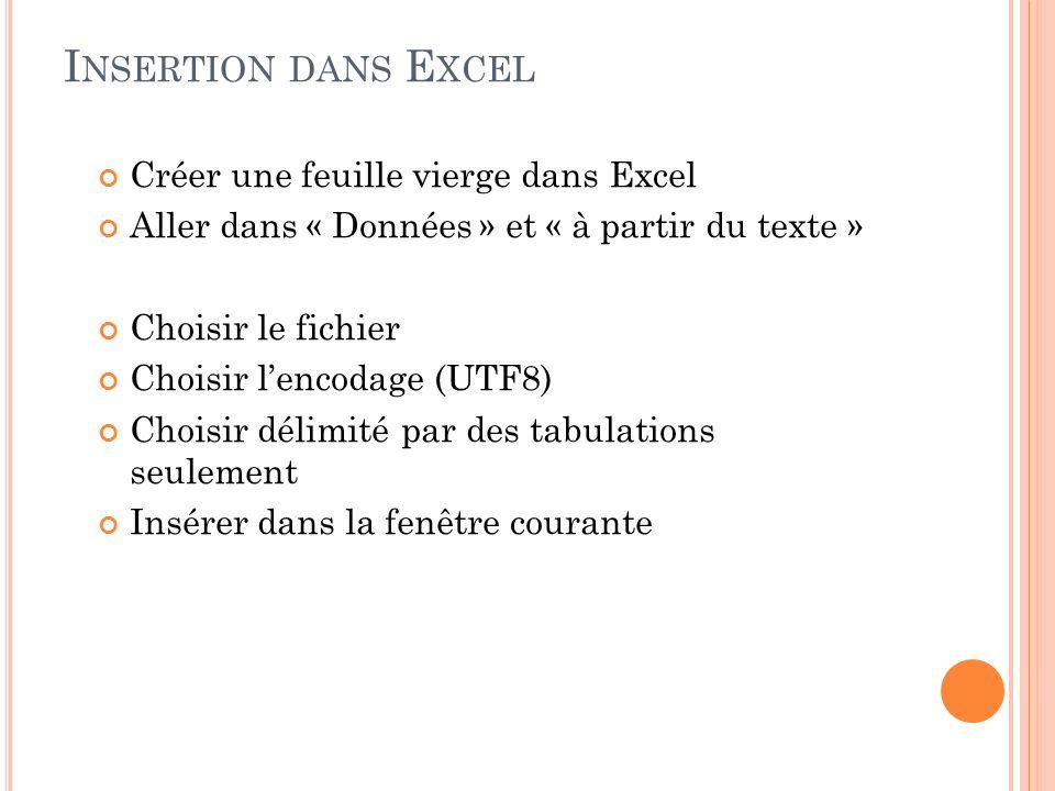 Insertion dans Excel Créer une feuille vierge dans Excel