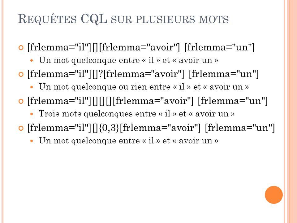 Requêtes CQL sur plusieurs mots