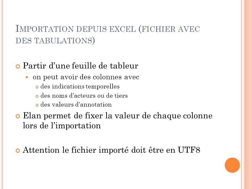 Importation depuis excel (fichier avec des tabulations)