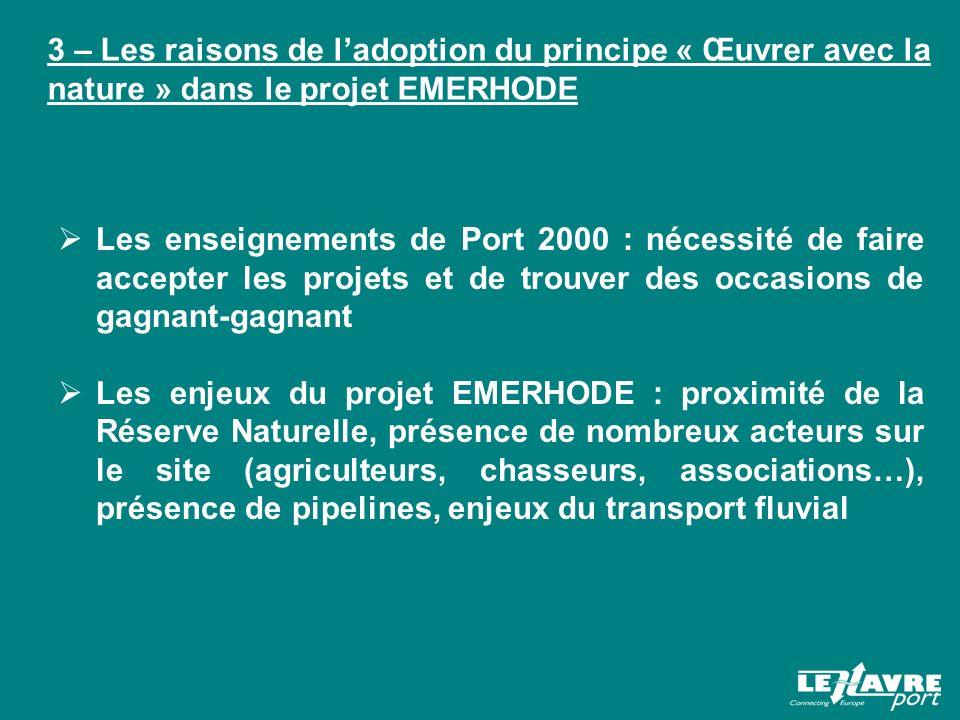 3 – Les raisons de l'adoption du principe « Œuvrer avec la nature » dans le projet EMERHODE