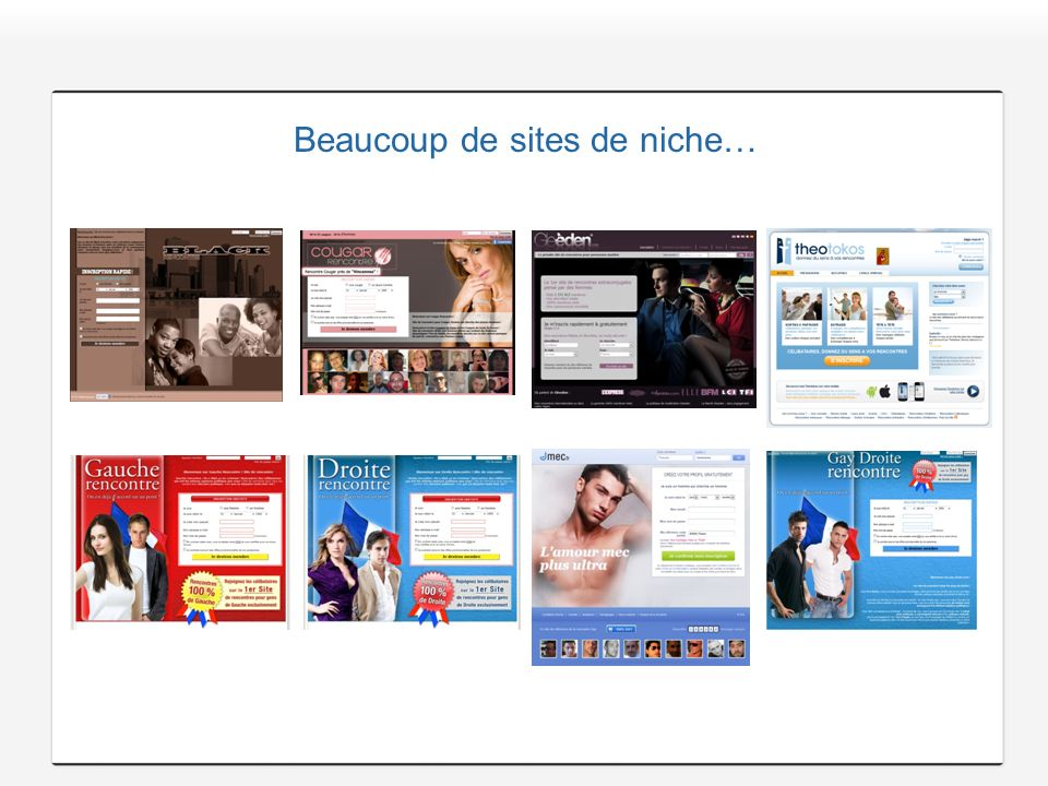 Beaucoup de sites de niche…