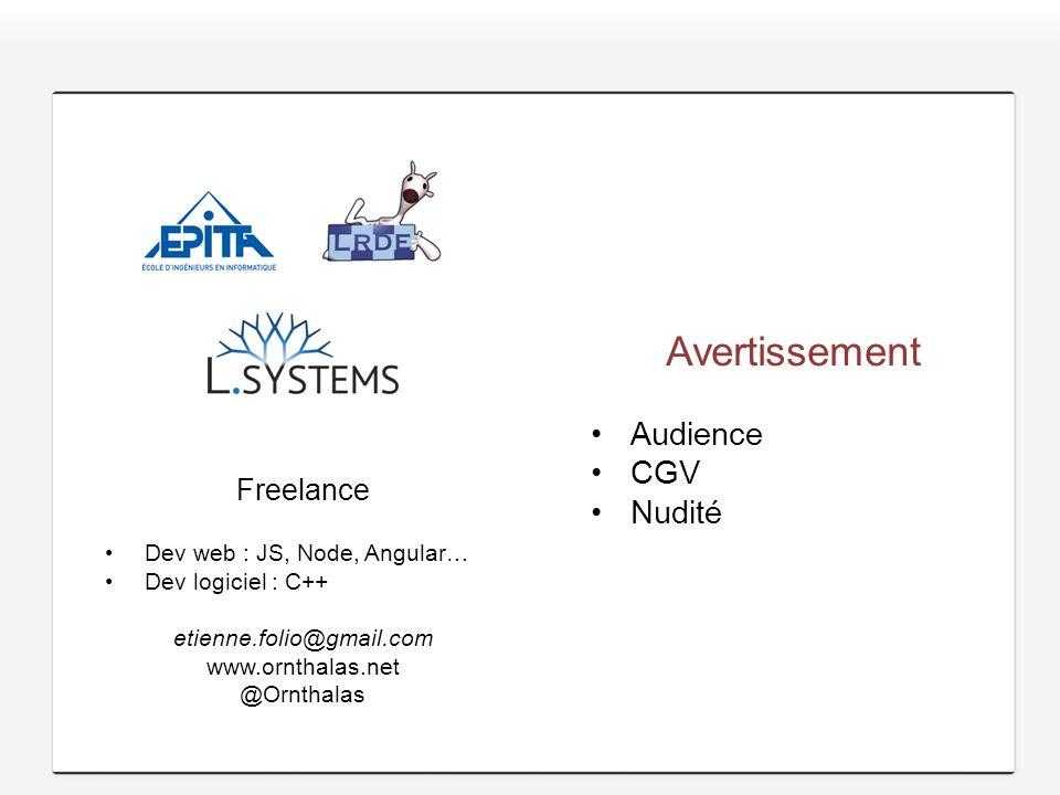 Avertissement Audience CGV Nudité Freelance