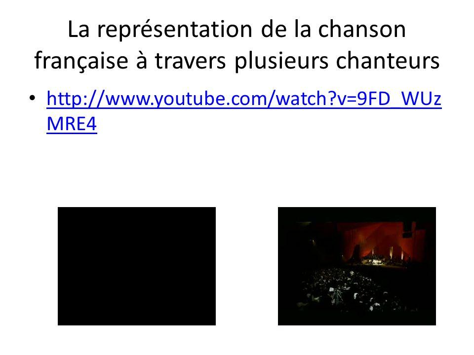 La représentation de la chanson française à travers plusieurs chanteurs