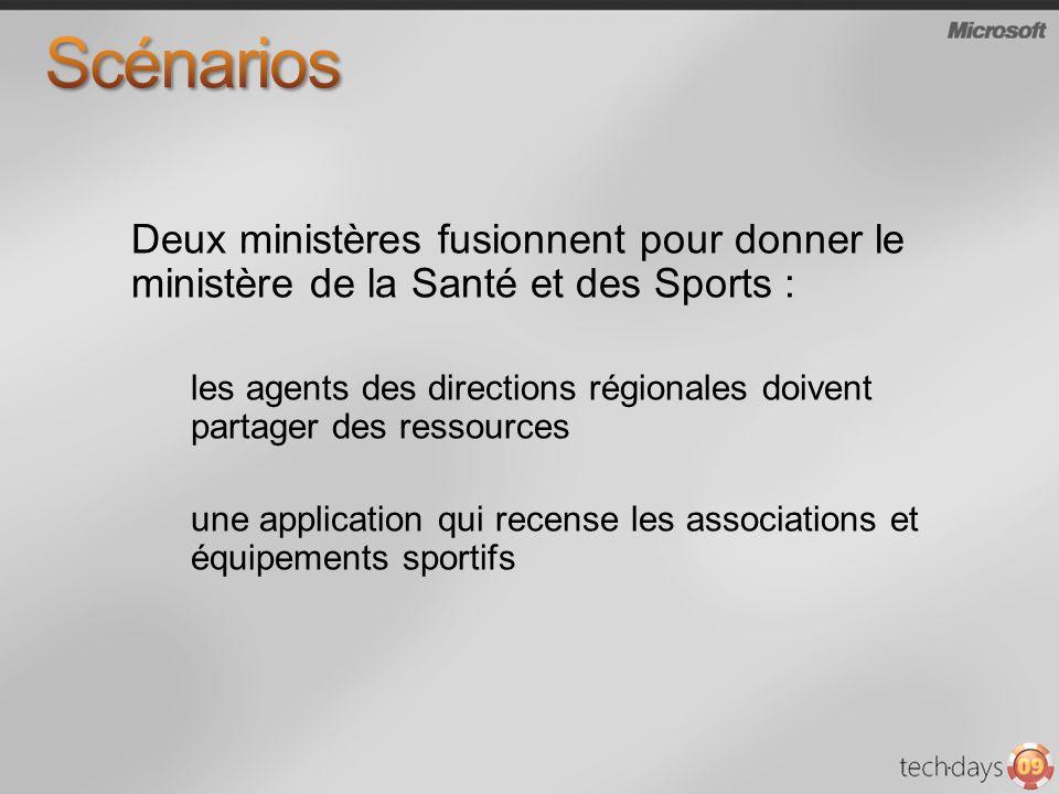 Scénarios Deux ministères fusionnent pour donner le ministère de la Santé et des Sports :