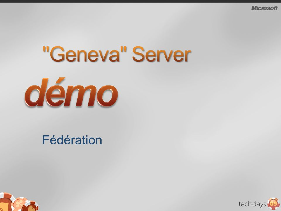 démo Geneva Server Fédération 3/30/2017 1:00 AM