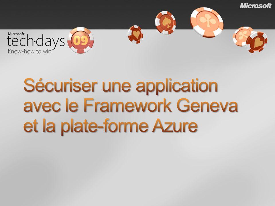 Sécuriser une application avec le Framework Geneva et la plate-forme Azure