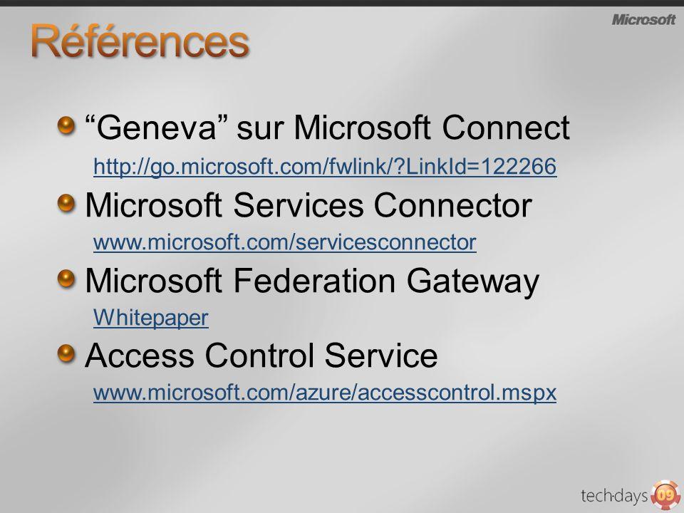 Références Geneva sur Microsoft Connect Microsoft Services Connector