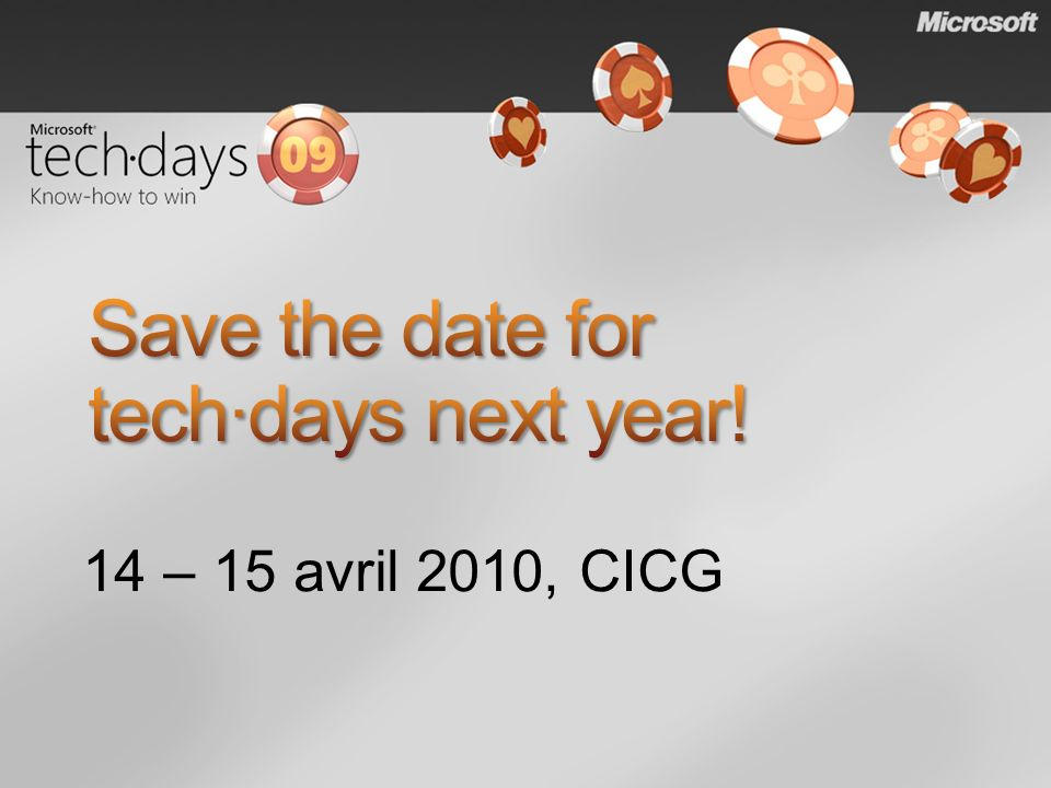 Save the date for tech·days next year!