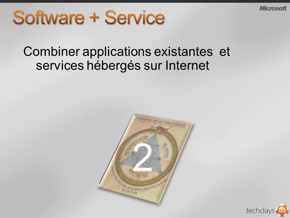 Software + Service Combiner applications existantes et services hébergés sur Internet 2