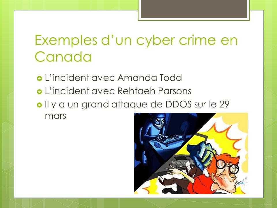 Exemples d'un cyber crime en Canada
